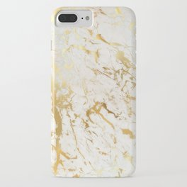 Gold marble iPhone Case