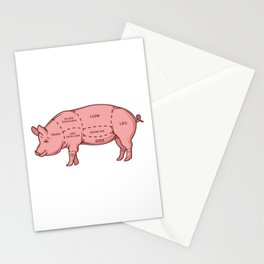 Pork by the Cut Stationery Cards