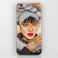 rihanna iPhone & iPod Skins featuring RIHANNA by Share_Shop