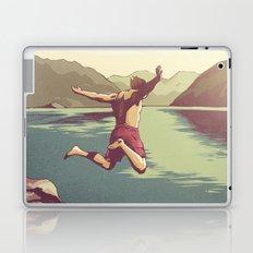 Summer Scenery - Cliff Jumping Laptop & iPad Skin