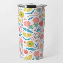 Geometric Floral Pattern Travel Mug