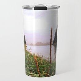 in the grass Travel Mug