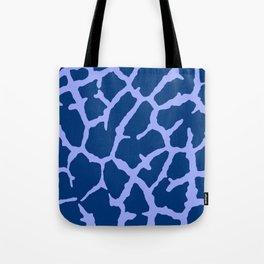 Blue Giraffe Print Tote Bag