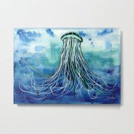 Emperor Jellyfish Metal Print