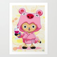 one piece Art Prints featuring One Piece: TonyTony Chopper by Neo Crystal Tokyo