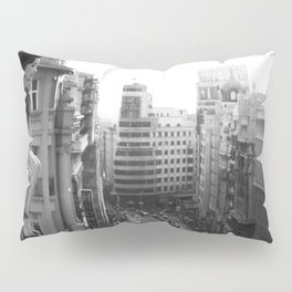 Woman on High, female form cityscape black and white photograph / photography Pillow Sham