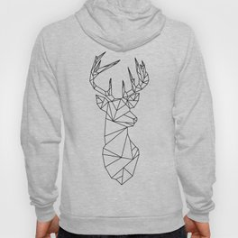 Geometric Stag (Black on White) Hoody