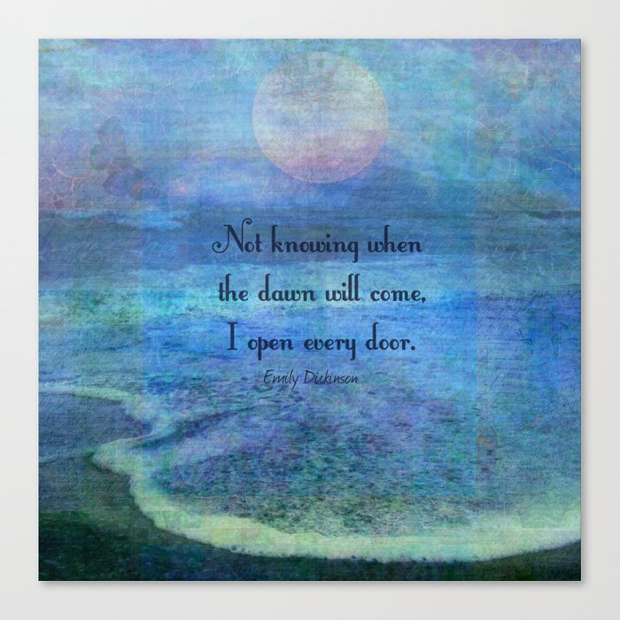 Emily Dickinson Hope Quote Canvas Print By Goldenslipper Society6