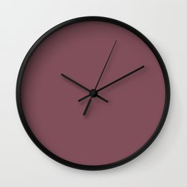 Crushed Berry Color Accent Wall Clock