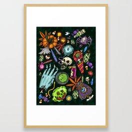 Halloweed Altar Framed Art Print