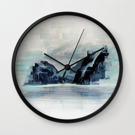 Rectangles - Perspective of Milford Sound Wall Clock
