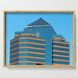 Blue And Gold Building Serving Tray