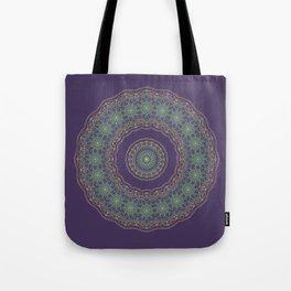 Lotus Mandala in Dark Purple Tote Bag