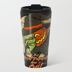 Cult of the Great Pumpkin: Witch Mask Metal Travel Mug