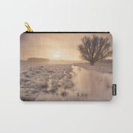 Sunrise over a frozen landscape in The Netherlands Carry-All Pouch