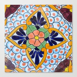 Talavera Nine Canvas Print