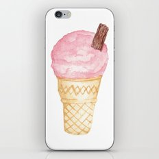 Watercolour Illustrated Ice Cream - Berries on Ice iPhone & iPod Skin