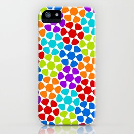 Multi-Coloured Flower Pattern iPhone Case