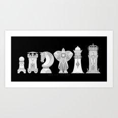 Modernist Chess Art Print
