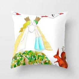 Prince and princess Throw Pillow