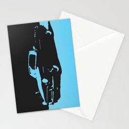 MGB, Light Blue on Black Stationery Cards