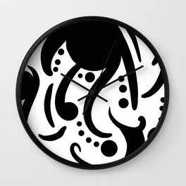 A Moderate Abstraction: Black and White Wall Clock