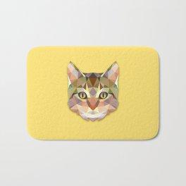 Geometric Cat Bath Mat