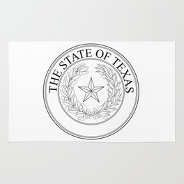The State Of Texas Seal Rug