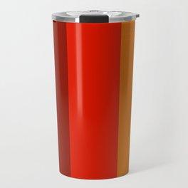 Multicolor Retro Strips Travel Mug