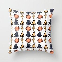 Scarab Beetle Throw Pillow