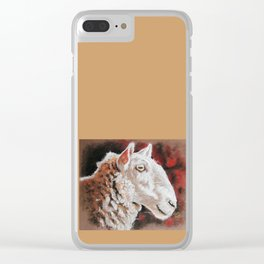 """Pastel Drawing """"Sheepish Grin"""" Clear iPhone Case"""