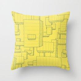 Fry Pattern - maize Throw Pillow