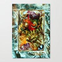 metallic Canvas Prints featuring Metallic by Vargamari