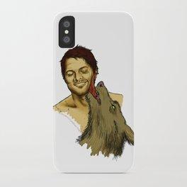 Castiel cuddling with werewolf!Dean iPhone Case
