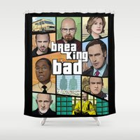 gta Shower Curtains featuring Breaking Bad GTA HD  by Akyanyme