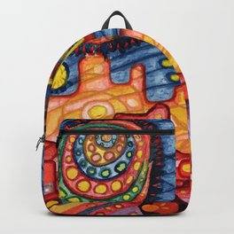 Rider Rida Rode Over Rainbow City Backpack