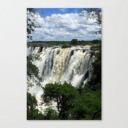 Victoria Falls On The Zambezi River Canvas Print