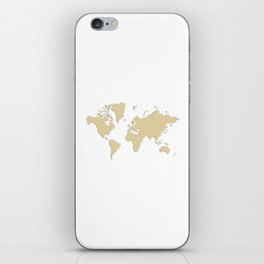 World with no Borders - sandalwood iPhone Skin