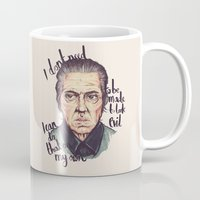 christopher walken Mugs featuring Christopher Walken by Ella Betts