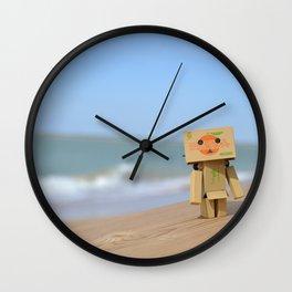 Danbo on the beach Wall Clock