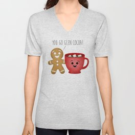 You Go Glen Cocoa! Unisex V-Neck