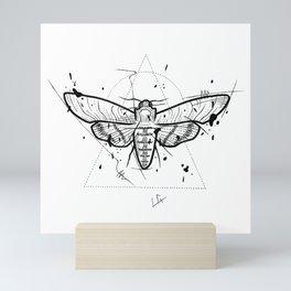 Moth Handmade Drawing, Made in pencil and ink, Tattoo Sketch, Tattoo Flash, Blackwork Mini Art Print
