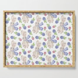 Country Bunny Style Serving Tray