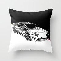 lamborghini Throw Pillows featuring ///Lamborghini NuReventón XREEM\\\ by NurRahman