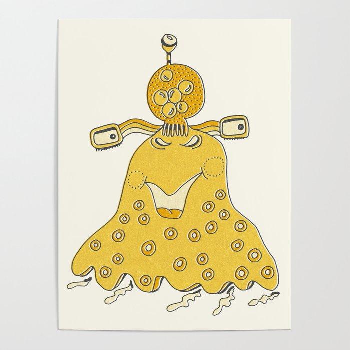 Robot Alien Monster No 271 Poster