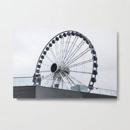 F Wheel Metal Print