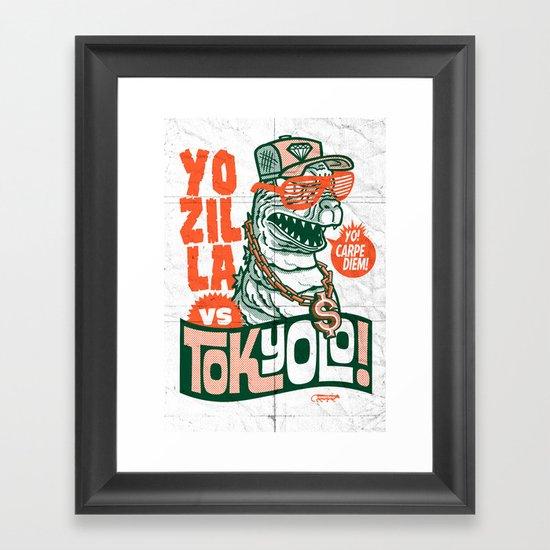 Tokyolo (YOZILLA variant) Framed Art Print