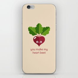 You Make My Heart Beet iPhone Skin