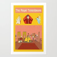 the royal tenenbaums Art Prints featuring The Royal Tenenbaums by Guiltycubicle