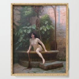Truth Coming Out of Her Well - Jean-Léon Gérôme Serving Tray